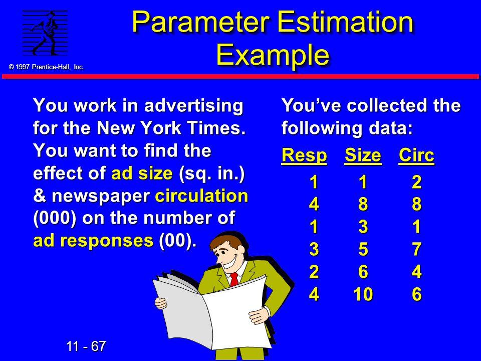 Parameter Estimation Example