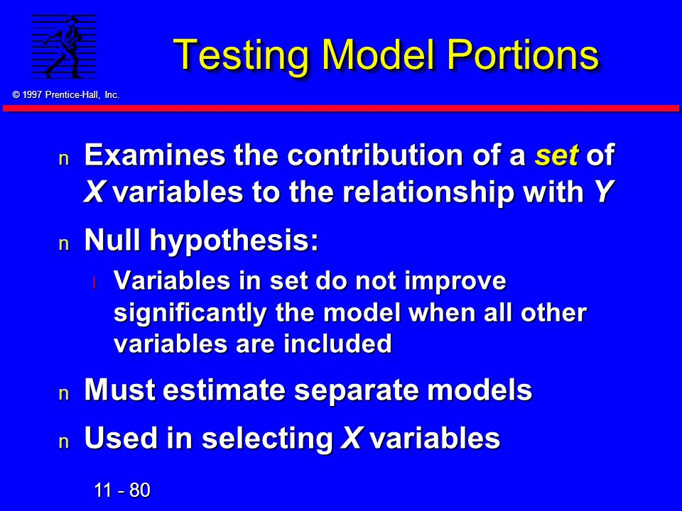 Testing Model Portions