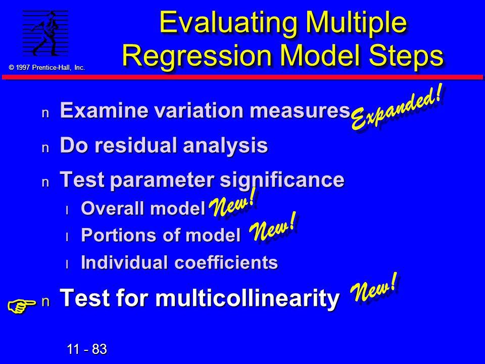 Evaluating Multiple Regression Model Steps