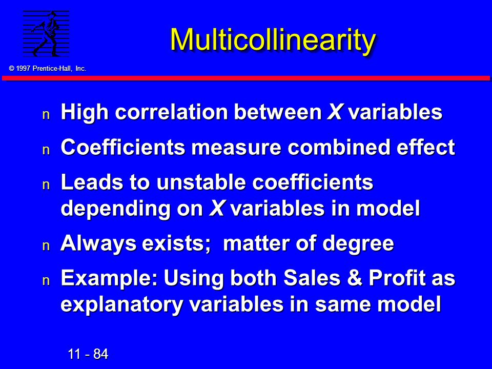 Multicollinearity High correlation between X variables