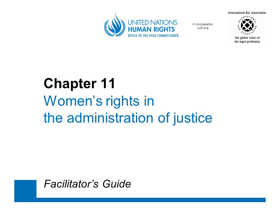 Chapter 11 Women's rights in the administration of justice