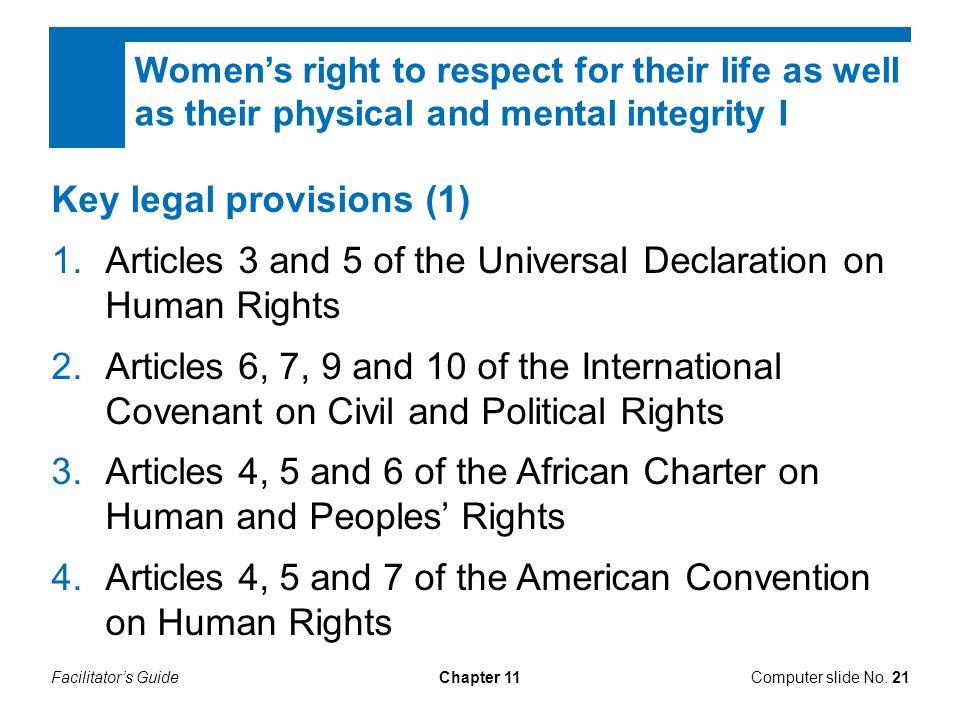Key legal provisions (1)
