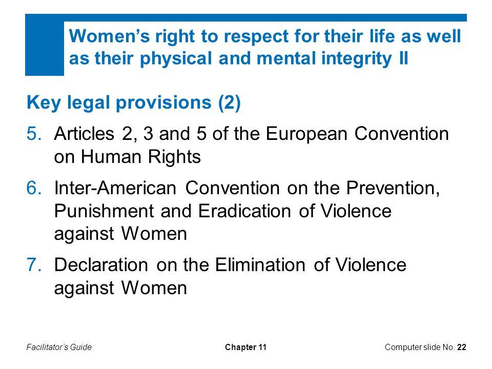 Key legal provisions (2)