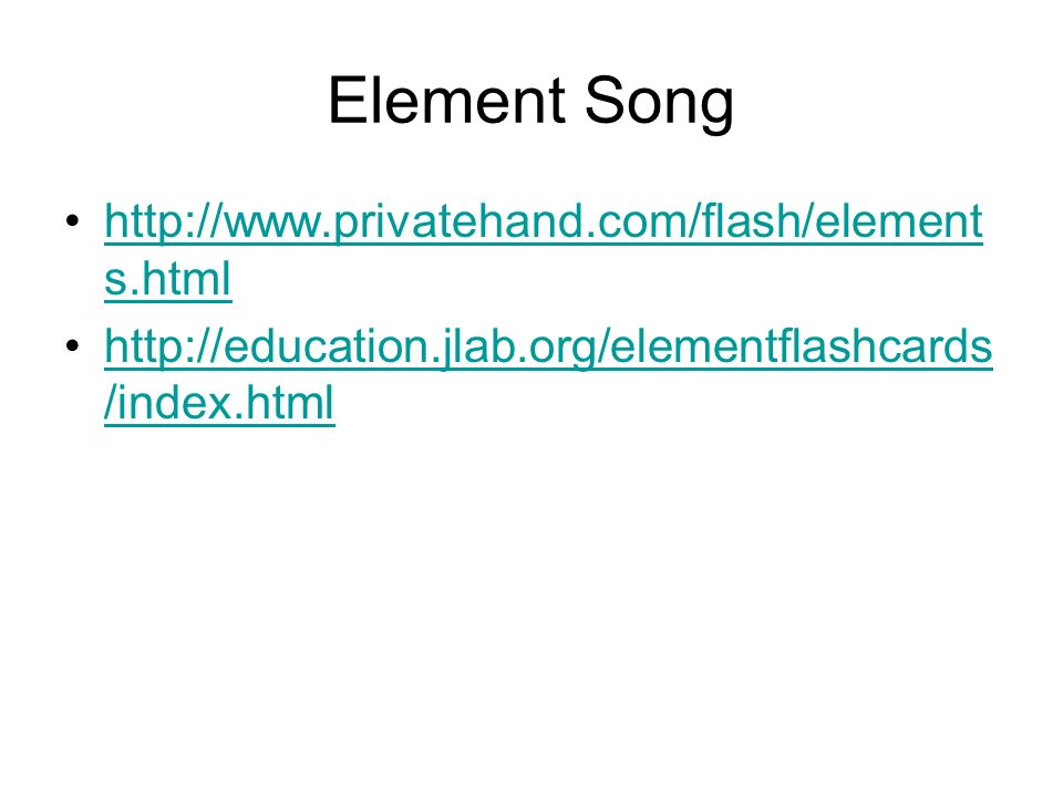 Element Song