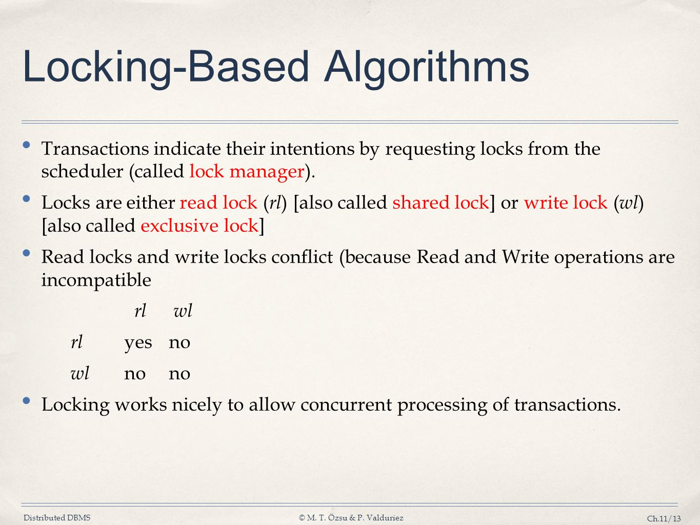 Locking-Based Algorithms