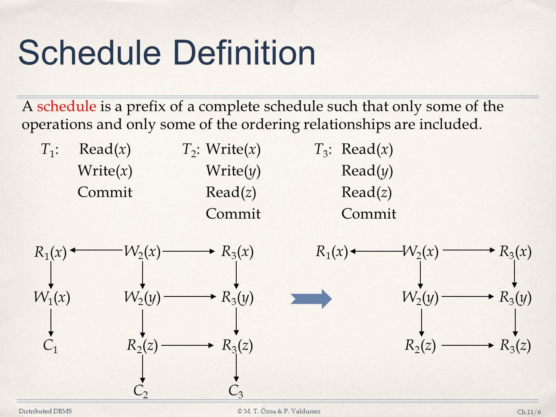 Schedule Definition