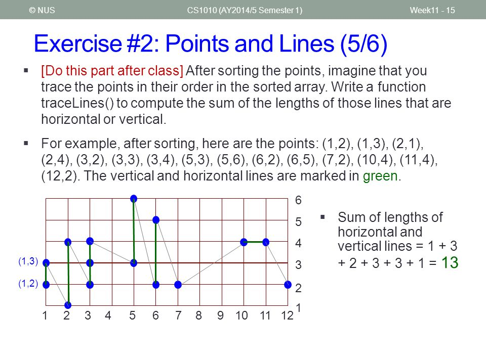 Exercise #2: Points and Lines (5/6)