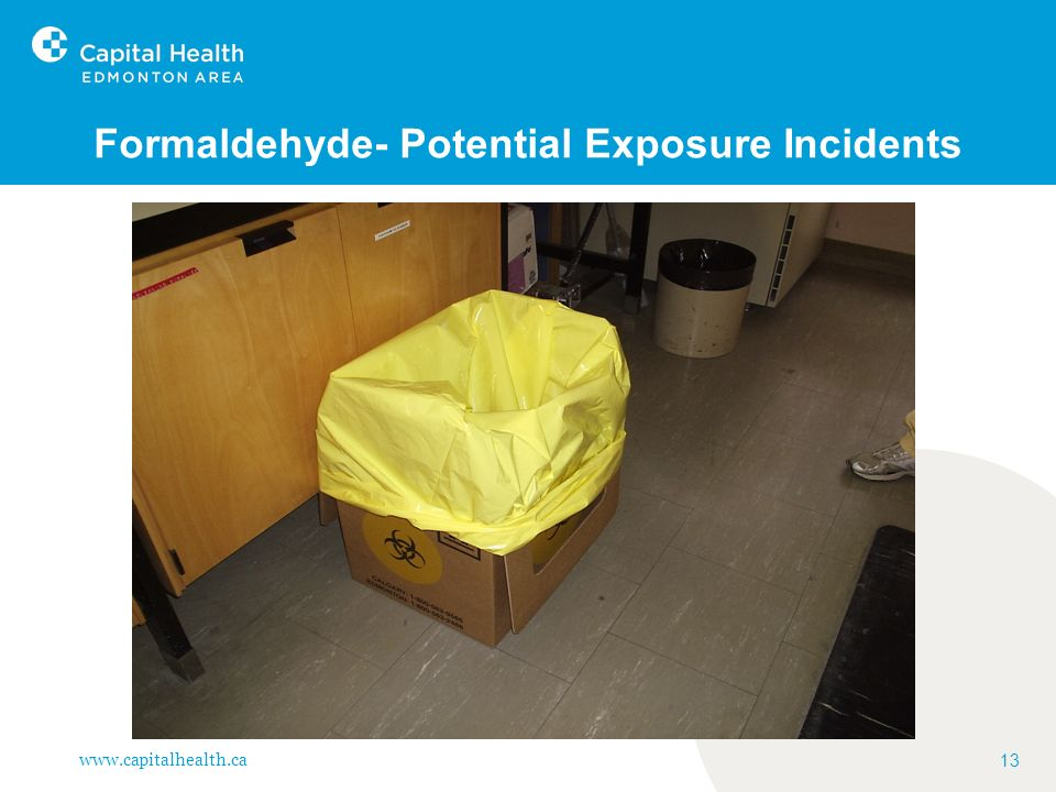 Formaldehyde- Potential Exposure Incidents
