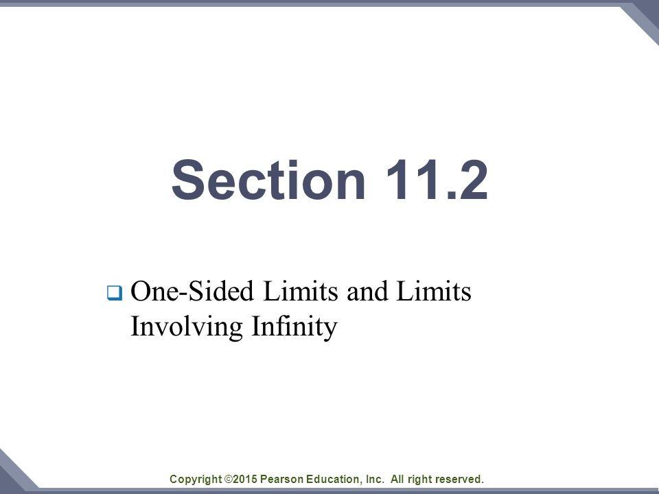 One-Sided Limits and Limits Involving Infinity