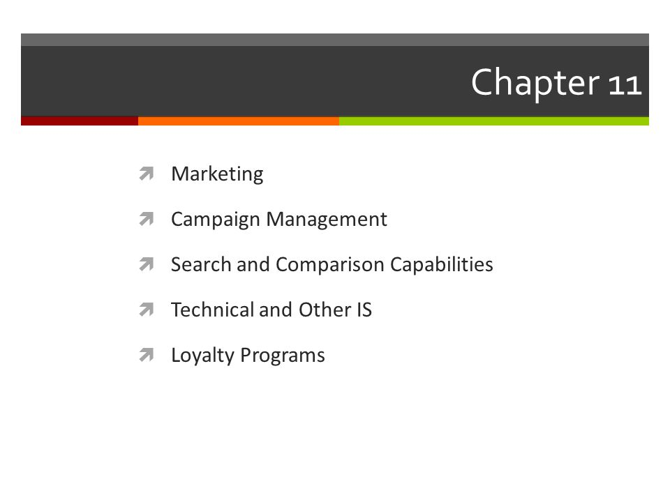 Chapter 11 Marketing Campaign Management