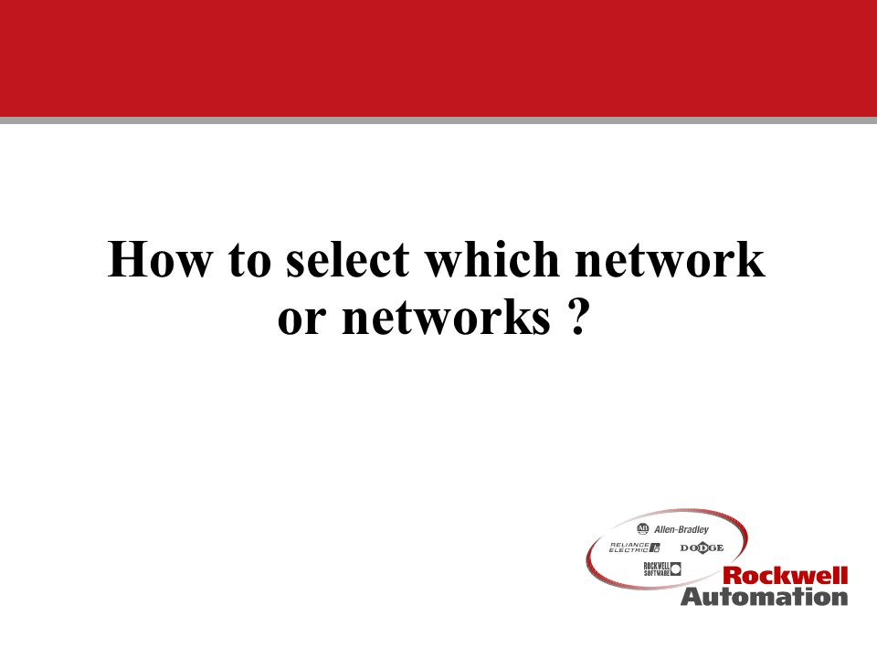 How to select which network or networks