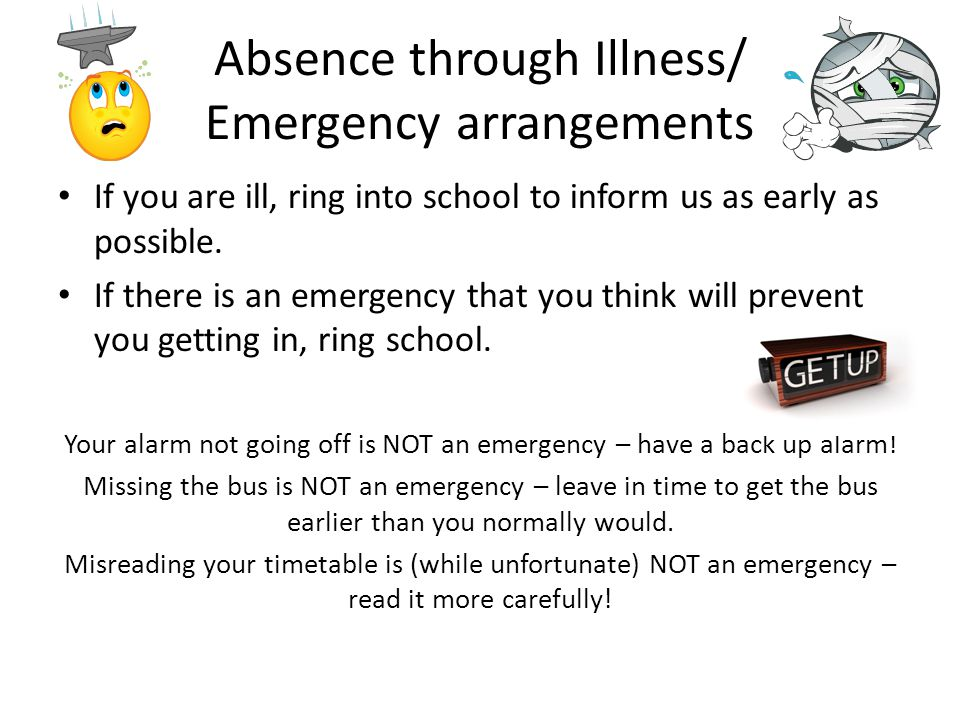 Absence through Illness/ Emergency arrangements