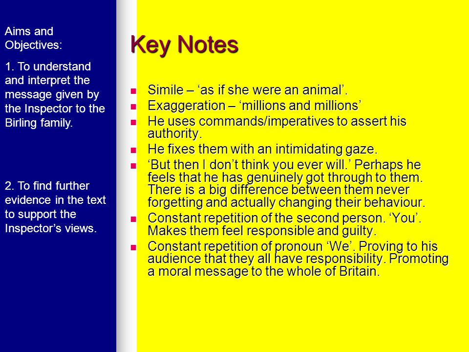 Key Notes Simile – 'as if she were an animal'.