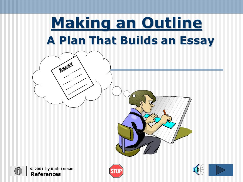 A Plan That Builds an Essay