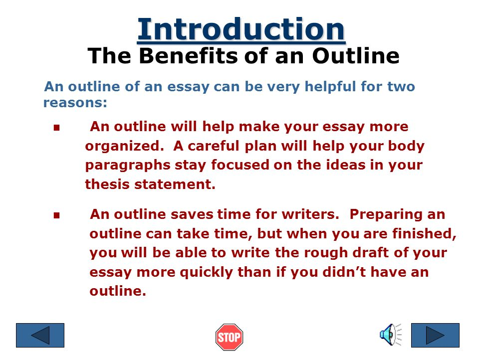 The Benefits of an Outline