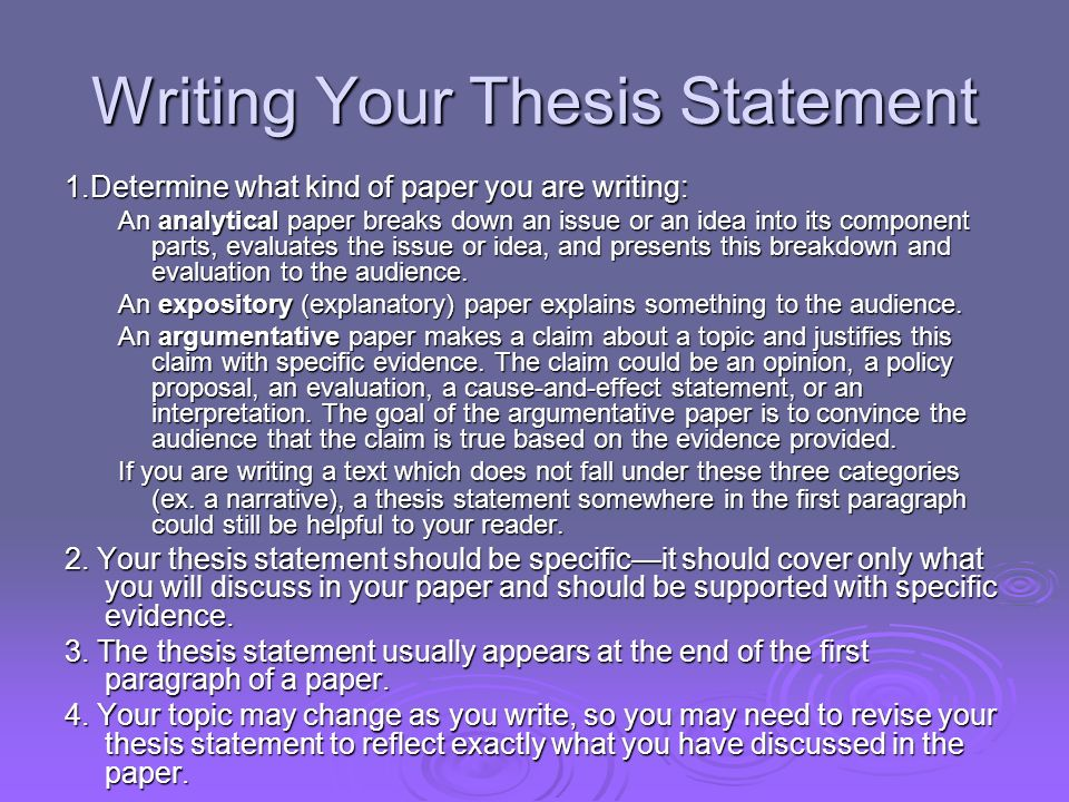 Part I The Thesis Statement Part Ii Nuts And Bolts  Ppt Video  Writing Your Thesis Statement