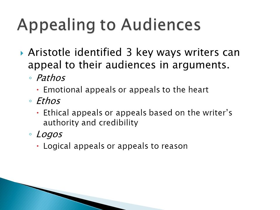 Appealing to Audiences
