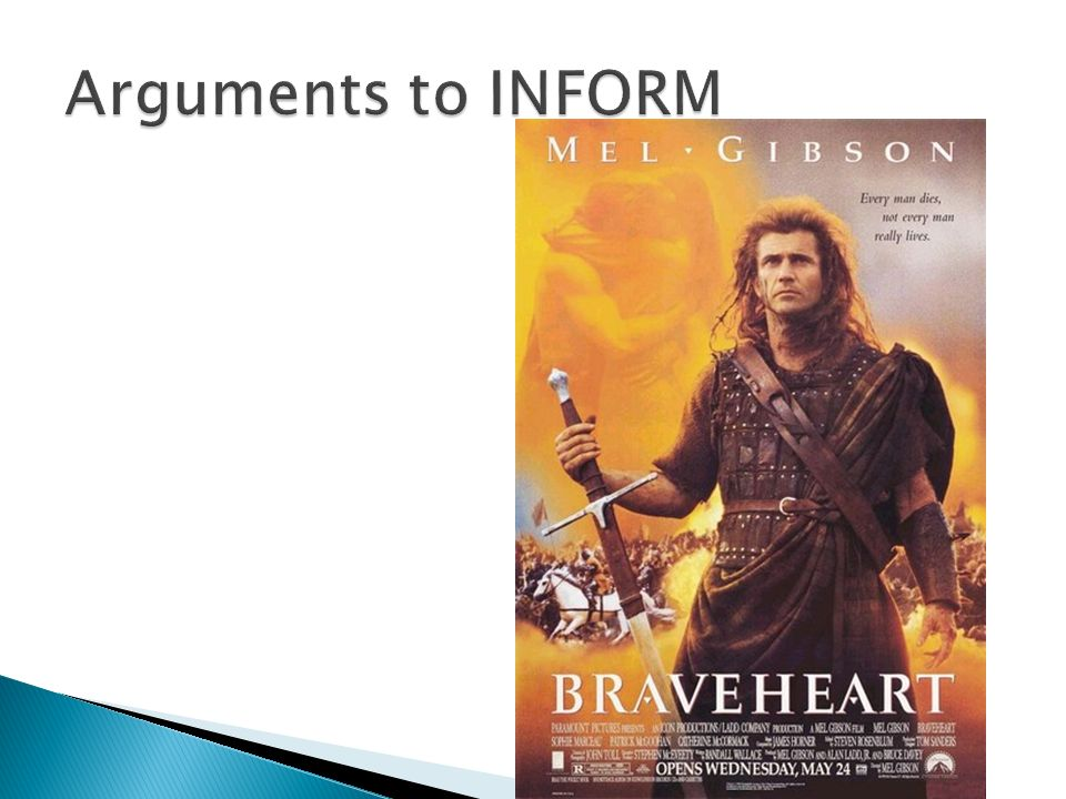 Arguments to INFORM