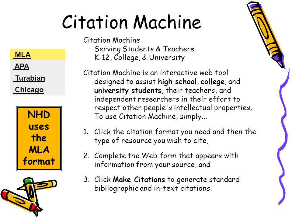 Use our citation machine to generate your citations!
