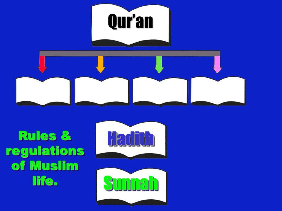 Rules & regulations of Muslim life.