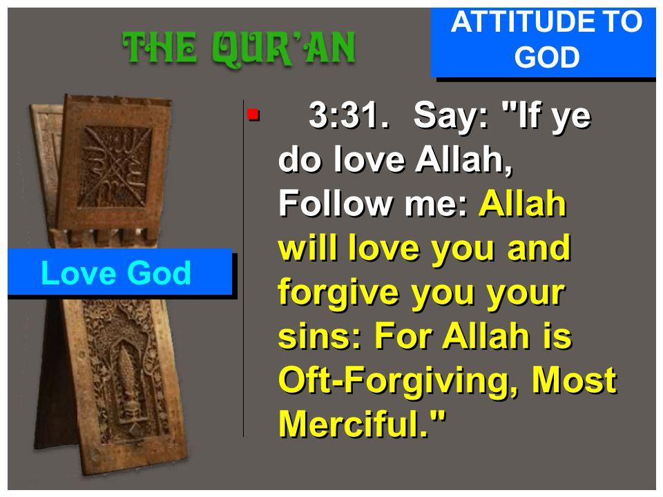 ATTITUDE TO GOD