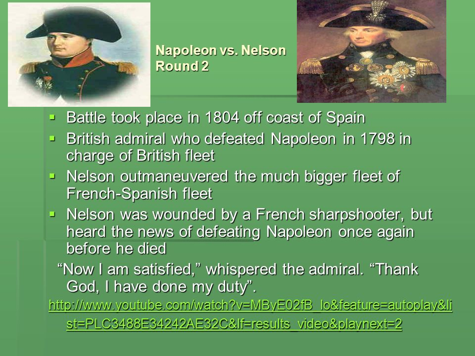 Battle took place in 1804 off coast of Spain