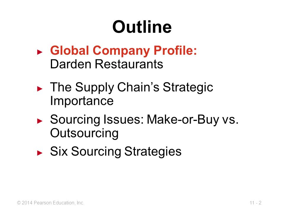 darden s global supply chain Segmenting your supply chain for a competitive advantage while darden's supply chain is on the to both survive and thrive in today's complex global.