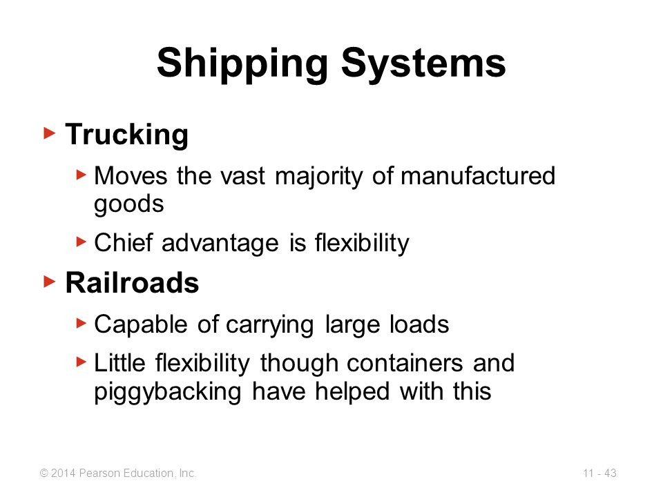 Shipping Systems Trucking Railroads