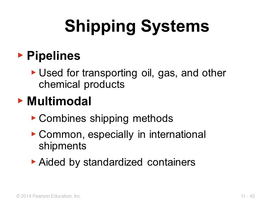 Shipping Systems Pipelines Multimodal