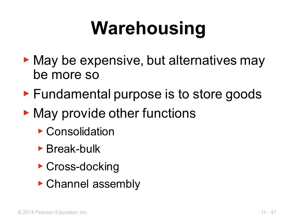Warehousing May be expensive, but alternatives may be more so