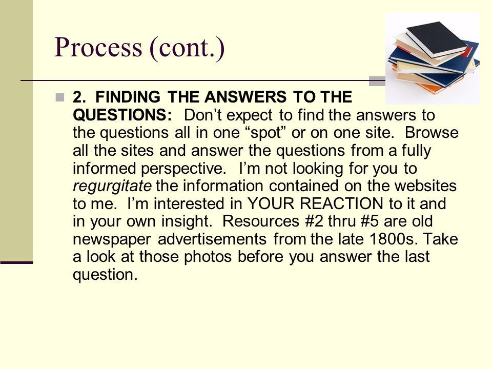 Process (cont.)