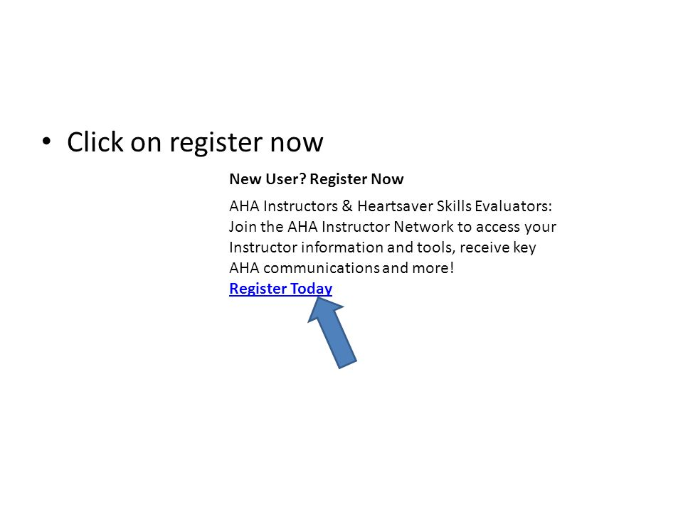 Click on register now New User Register Now.