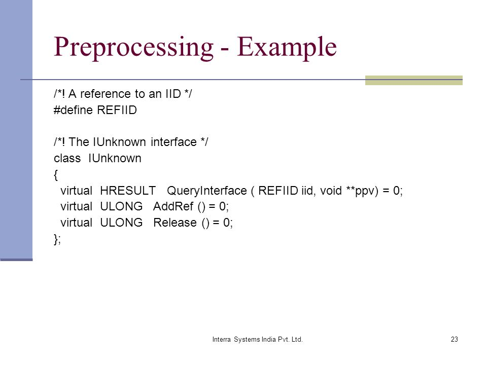 Preprocessing - Example