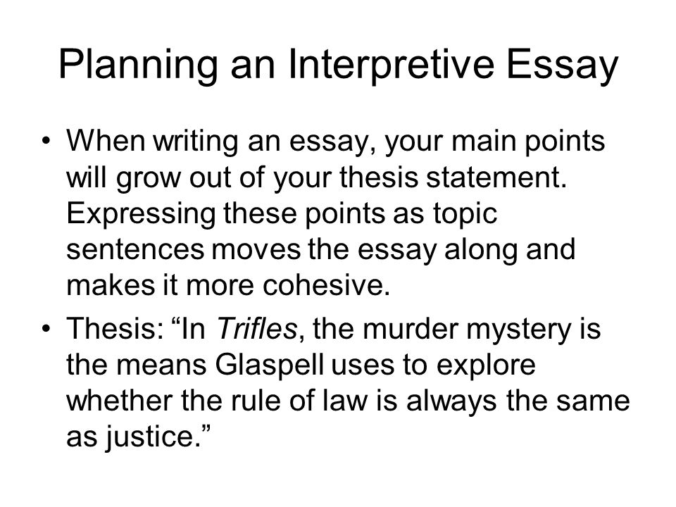 planning an interpretive essay - Interpretive Essay Examples