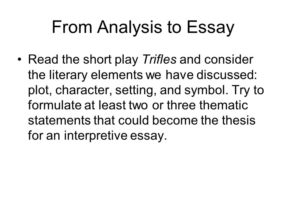 writing an interpretive essay ppt video online  from analysis to essay