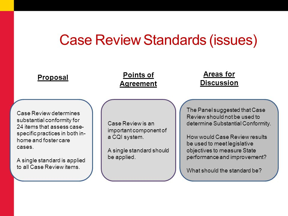 Case Review Standards (issues)