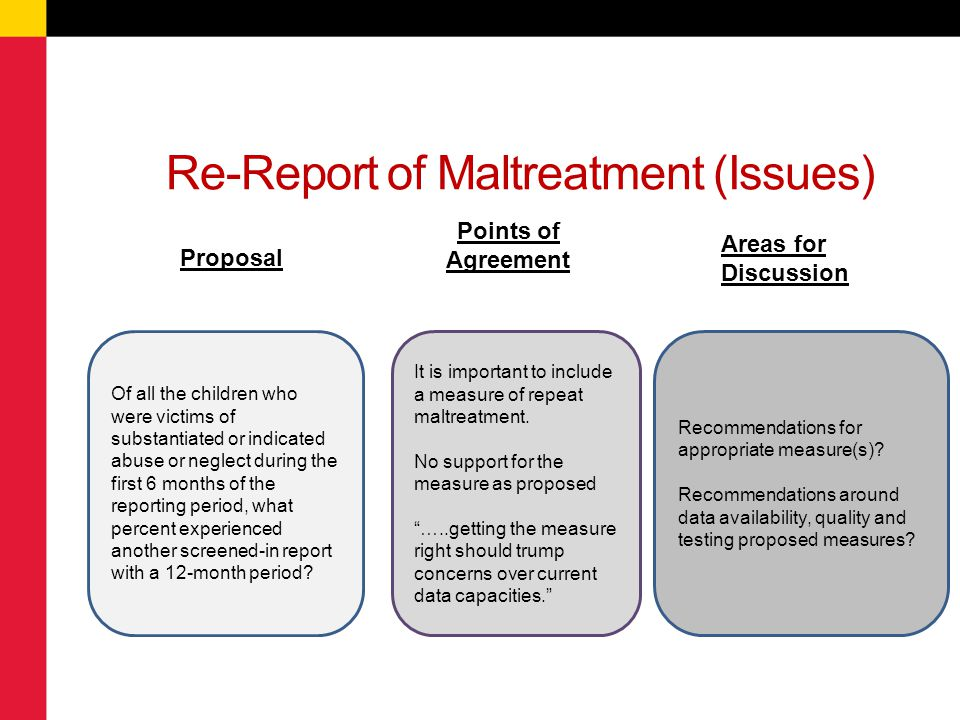Re-Report of Maltreatment (Issues)