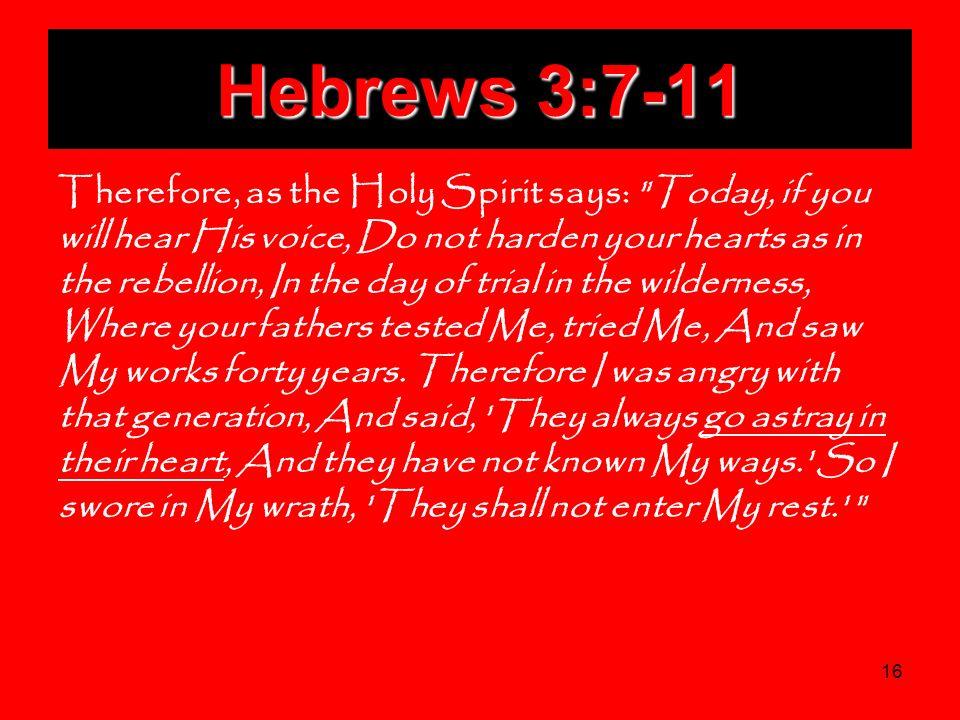 Hebrews 3:7-11