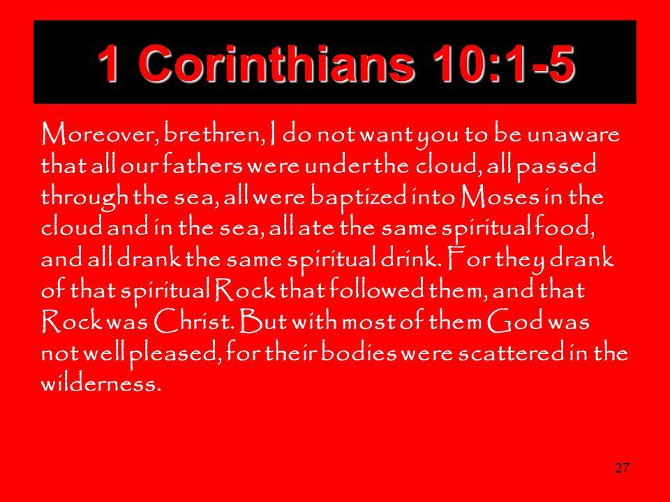 1 Corinthians 10:1-5