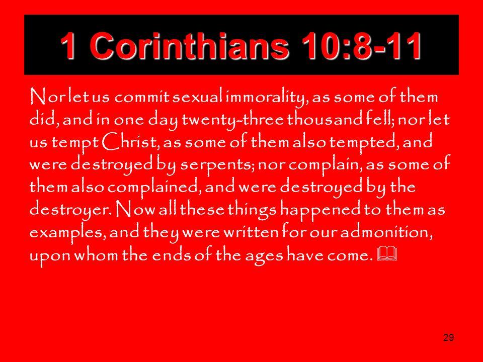 1 Corinthians 10:8-11
