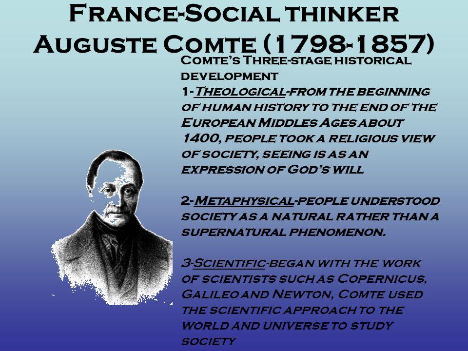 France-Social thinker Auguste Comte (1798-1857)