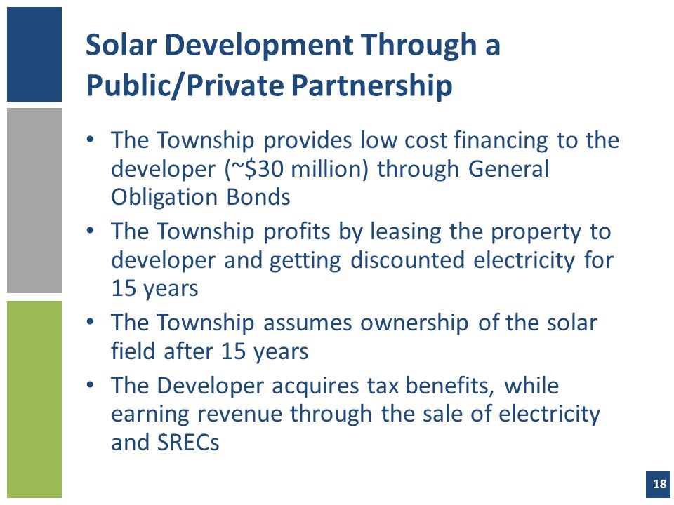 Solar Development Through a Public/Private Partnership