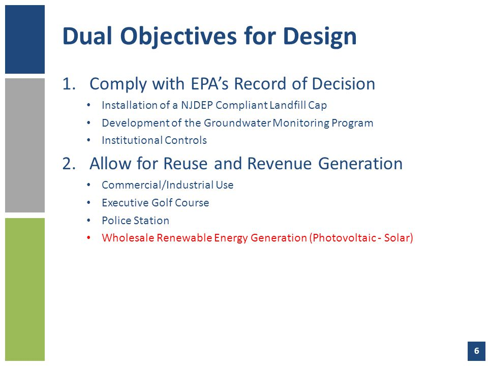 Dual Objectives for Design