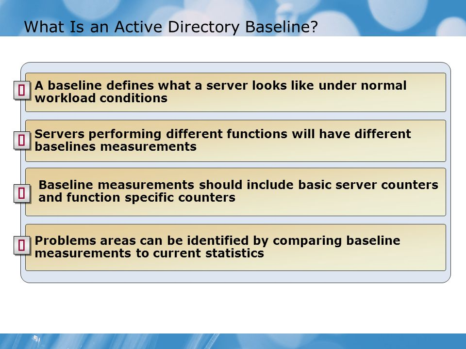 What Is an Active Directory Baseline