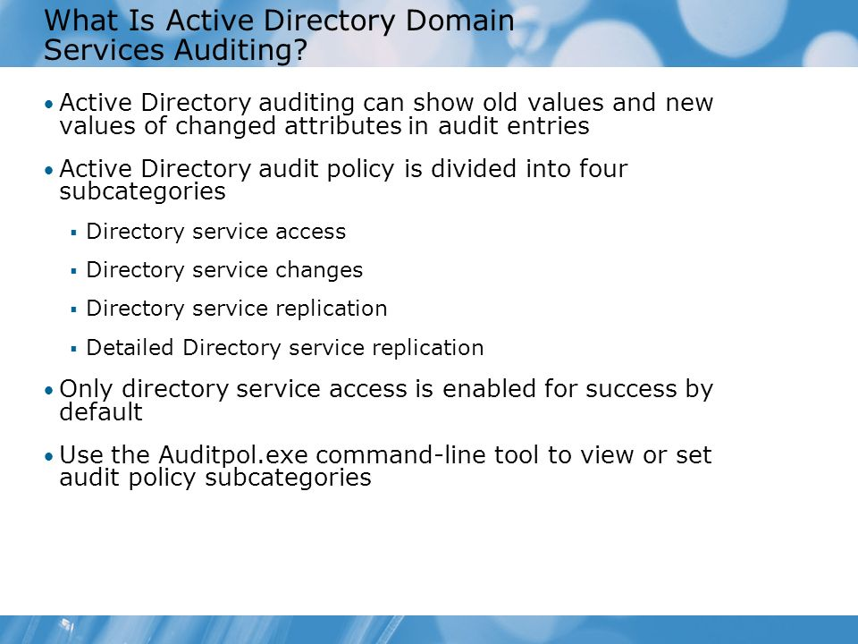 What Is Active Directory Domain Services Auditing