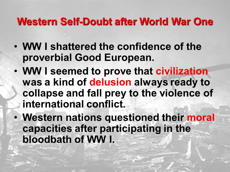 Western Self-Doubt after World War One