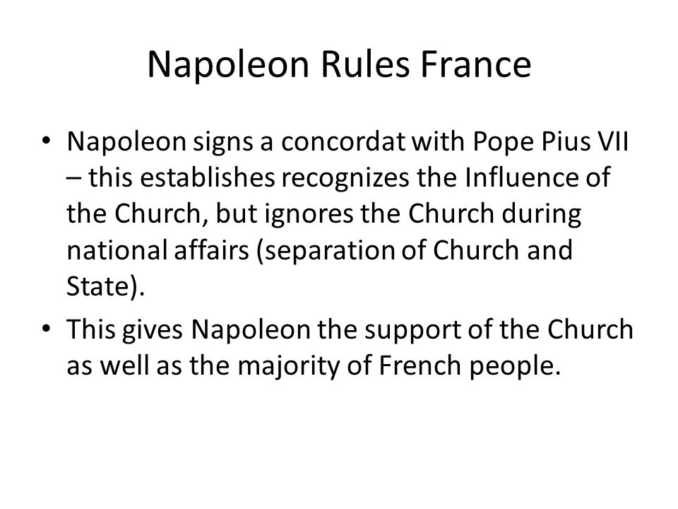 Napoleon Rules France