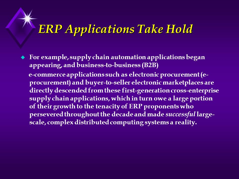 ERP Applications Take Hold