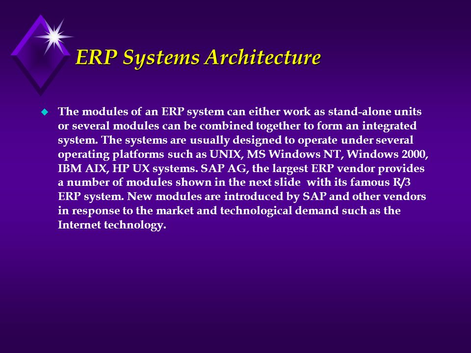 ERP Systems Architecture