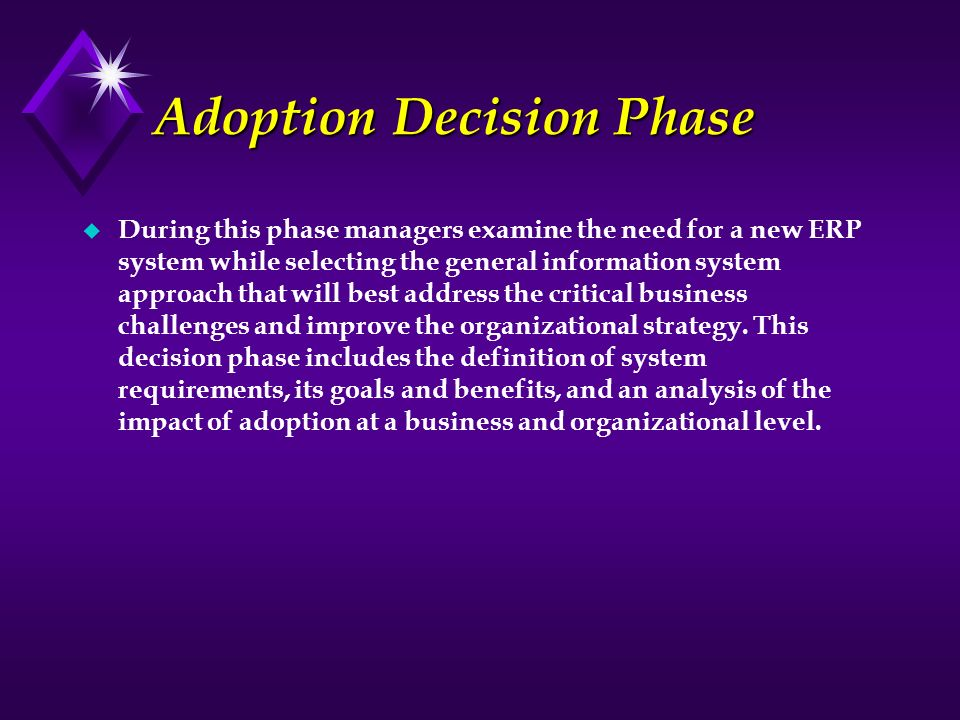 Adoption Decision Phase